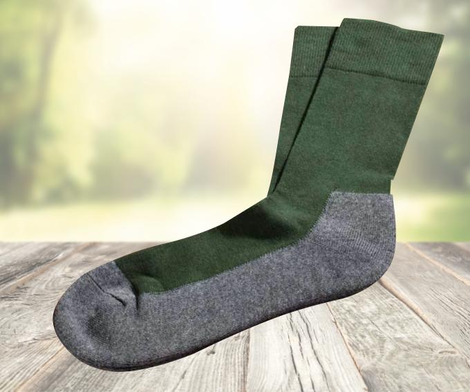 Kniebundstrumpf 70/%Wolle grün Gr 45-47